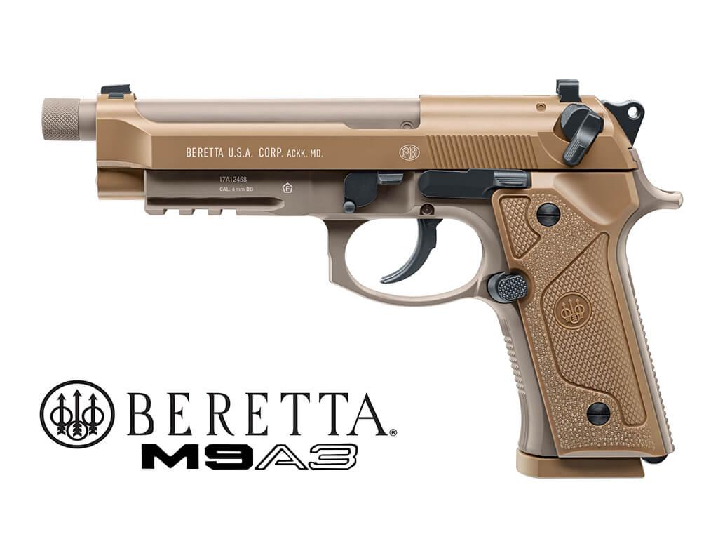 Umarex Beretta M9A3 CO2 cal.4,5mm colore FDE scarrellante