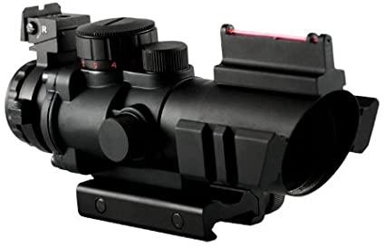 Aim Sports Ottica 4x32 Illum. 3 colori con mire in fibra ottica